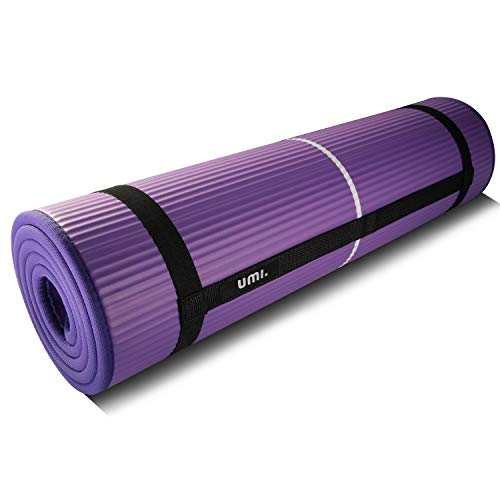 Amazon Brand - Umi - Colchón para Yoga NBR Colchoneta Ideal para Pilates Ejercicios Fitness Gimnasia Estiramientos 1830*660*10mm