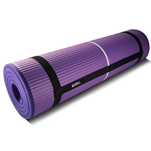 UMI. by Amazon -Colchón para Yoga NBR Colchoneta Ideal para Pilates Ejercicios Fitness Gimnasia Estiramientos 1830 * 660 * 10mm …