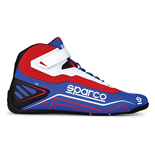 Sparco Unisex's Modern K-Run Shoes Size 42 Blue/Red, EUR