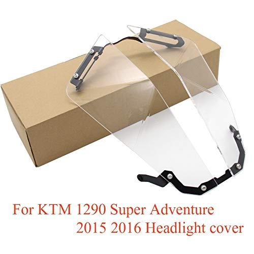 WONYAN Motocicleta Piezas For KTM 1290 Super Adventure R 1290 transparente del protector del protector de la Linterna Linterna (Color : Iron bracket acryl)