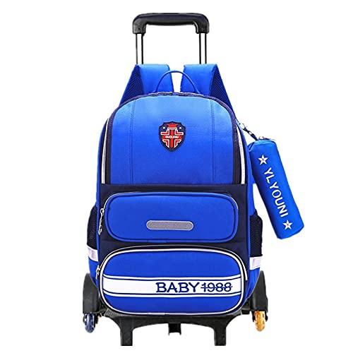 FBSSD Mochila escolar con ruedas para niños, con ruedas y asa extensible para viajes, fiestas escolares, vacaciones, niños de 6 a 12 años (color A10)