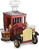 Set di Decanter di Whisky Decanter Whisky, con Occhiali da Cristallo e Supporto for Auto Vintage Vecchio Stile, Scotch, Set di Whisky de decantatore di Vino