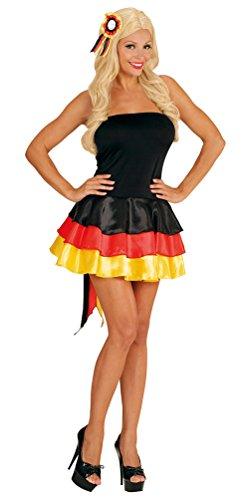 Karneval-Klamotten Kostüm Deutschland Kleid Miss Deutschland EM Handball 2020 Karneval Fanartikel Damenkostüm