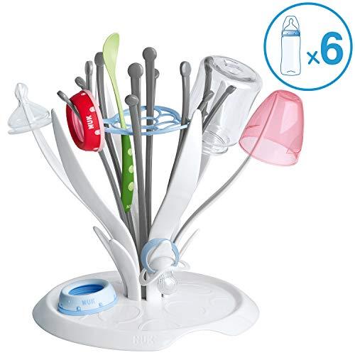 NUK MultiDry Trockenständer - praktisches Trocknen von bis zu 6 Babyflaschen und Zubehör, BPA-frei