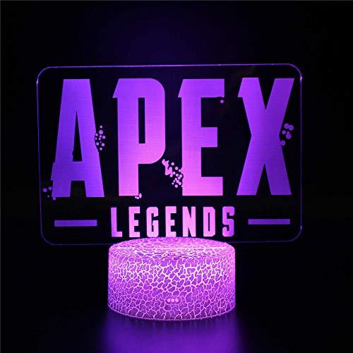 3D LED noche luz Apex Legends B lámpara de escritorio luz de mesa 16 colores Swich con control remoto para sala de estar habitación bar juguetes regalo