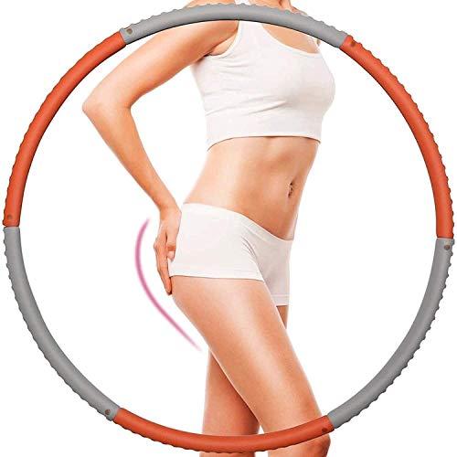 HACSYP Hula Hoop,Hoola Hoop Reifen Übung Hula-Reifen | 6 Abschnitt abnehmbar | Fitness adujustable Hoola-Reifen für Anfänger | Gewicht verlieren Fettverbrennungssportausrüstung