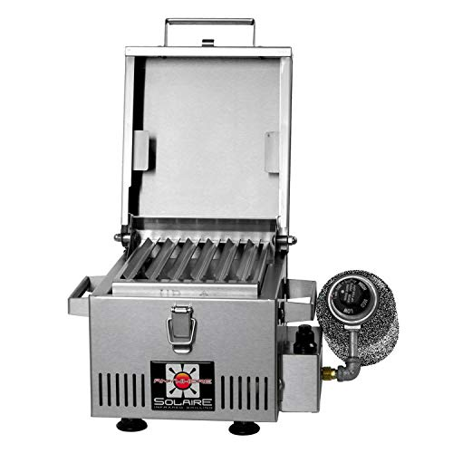 Solaire SOL-IR8A Anywhere Mini Personal Infrared Propane Gas Grill, Stainless Steel Grills Propane