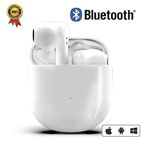 Auriculares Inalámbricos, Auriculares In-Ear Bluetooth 5.0, Micrófono de Reducción de Ruido Incorporado y Caja de Carga Rápida 3D Estére IPX5 Impermeables Sport Auriculares,para iPhone/Android
