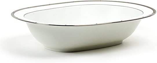 Noritake Rochelle Platinum Oval Vegetable Bowl, 10-3/4-inches