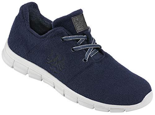 Tiroler Loden Merino-Sneakers, Bequeme Turnschuhe für Frauen & Männer, geruchsneutral, warme Schuhe mit schrittdämpfender Sohle, Gr. 42-44