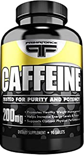 PrimaForce Caffeine Supplement, 90 Count 200mg Capsules – Boosts Metabolism / Sharpens Focus / Supports Optimal Physical P...