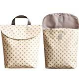 Leikance - Bolsa de pañales para bebé, reutilizable, multifuncional, impermeable, estampada, bolsa de almacenamiento para mamá, bolsa de viaje Estrellas Amarillas Talla:L