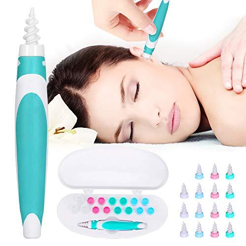 Q Grips Ohrenreiniger Entferner, Q Grips Ohrenschmalzentfernungs-Kits, Weichsilikon-Ohrenschmalzentfernungswerkzeug mit 16 Ersatzköpfen, Ohrenreinigungswerkzeug für Kinder und Erwachsene