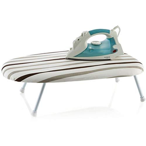 Planche à repasser de table avec pieds pliants, planche à repasser pliante avec revêtement en coton (Couleur : D)