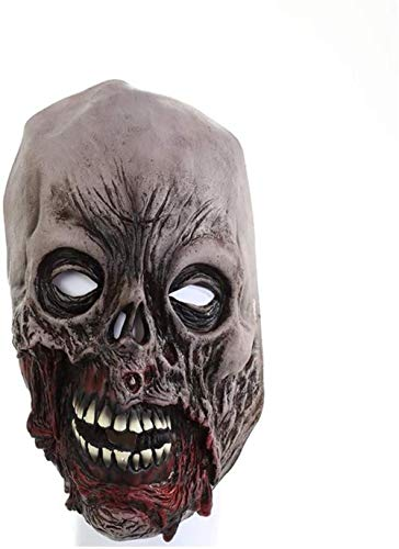 NIUMM Halloween Maske Halloween Horror Gummimaske Rotten Face Zombie Maske Blood Face Zombie Screaming Death Devil Mask