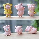 ZXZCHGN 6 Unidades Conjunto de Estatua Animal en Miniatura, Figuras Animales Animales Miniatura Micro Paisaje Accesorios Miniatura Paisaje Decoración Figuras, for decoración del hogar