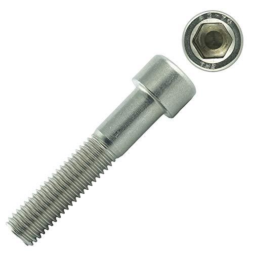 Eisenwaren2000 | Zylinderschrauben mit Innensechskant M10 x 70 mm (10 Stück) - Zylinderkopf Schrauben ISO 4762 - DIN 912 - Gewindeschrauben - Edelstahl A2 V2A- rostfrei