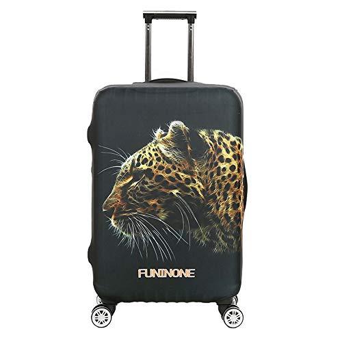 HO-TBO Cubiertas para Maletas 18-32 Pulgadas 3D Animal Print Travel Luggage Cover Protector de Maleta elástica a Prueba de Lluvia for Viajes Fácil de Colocar y Quitar (Color : A, Size : XL(29