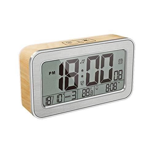 Sbeautli Luminous Uhr mit Nachtlicht Großes Display Operated for Innen Küche Büro Badezimmer Wohnzimmer Schlafzimmer Einfach zu Bedienen