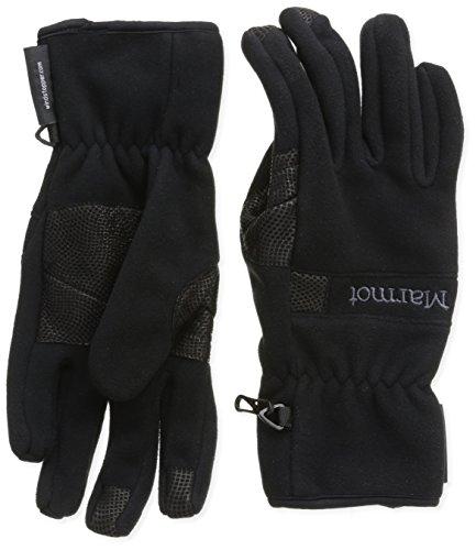 Marmot Windstopper Glove Gants polaires, chauds, coupe-vent, hydrofuges, pour outdoor, vélo, course à pied Homme Black FR : S (Taille Fabricant : S)