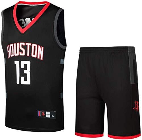WSZS Houston Rockets 13 Maglia da Basket, Sport Estivi Abbigliamento da Basket,Divise da Pallacanestro per Adulti E Bambini, Canotte NBA Uomo in Alto Compreso Pantaloncini,Black-S