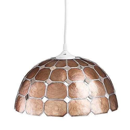 Lámpara de techo de nácar bronce de comedor vintage para salón Bretaña - LOLAhome