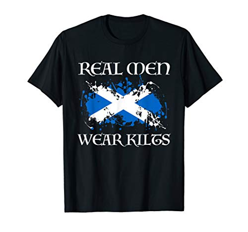 Real Men + T-Shirt mit Schottland-T-Shirt