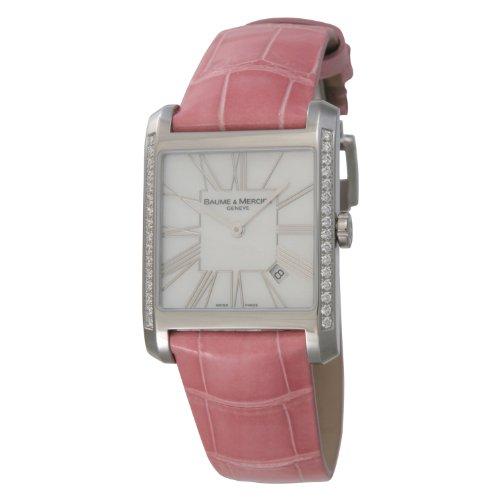 [ボーム&メルシエ] 腕時計 Hamptonクオーツ ホワイトシェル サイドダイヤ MOA08743 並行輸入品 ピンク