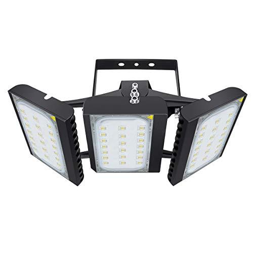 450W LED-buitenverlichting voor garage, 40500LM, 6000K (Daglicht wit) veiligheidsschijnwerper, 450W verstelbare spot voor schuur, terras, binnenplaats