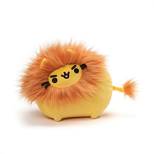 GUND Pusheen Pusheenimal Lion Stuffed Plush, Orange & Yellow, 13'
