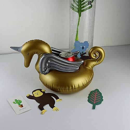 Suministros Conejo Inflable de fútbol Cereza Bebida Piscina Flotador Inflable Copa Posavasos Cola Beverage Holder Copa Fiesta de Navidad (Color : Blue)