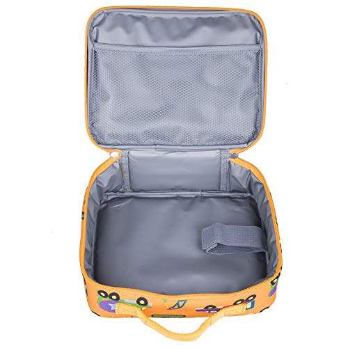 Wildkin Insulated Lunch Box for Boys and Girls, Perfect Size for Packing Hot or Cold Snacks for School and Travel, Mom's Choice Award Winner, BPA-free, Olive Kids (Under Construction)
