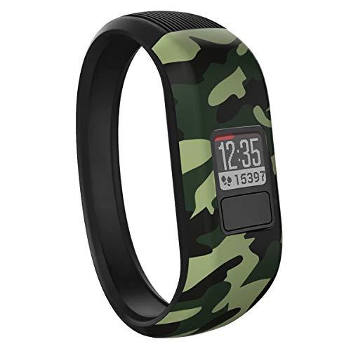 Vozehui Armband Kompatibel mit Garmin Vivofit 3/Vivofit JR/Vivofit JR 2, Verstellbare Bunte Ersatz-Sportarmbänder aus weichem Silikon für Kinder Jungen Mädchen Männer Frauen, klein groß