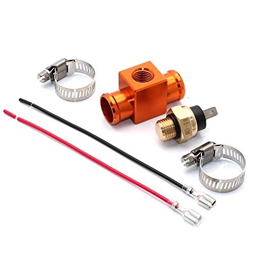 Radiador del Interruptor de Temperatura del termostato del Ventilador de la Motocicleta para HON-DA CRF XR S -UZUKI R.M.X B .e.t.a RR 125-498CC EXC XC XCF G.A.S.G.A.S S .h.e.r.c.o (Color : Orange)