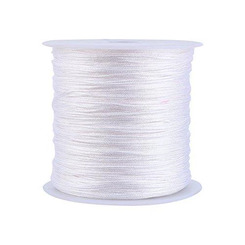 100m X 0.8mm Nylon Cordón De Nudo De Nylon Macrame Macrame Shamballa String String Blanco Hogar Suministros