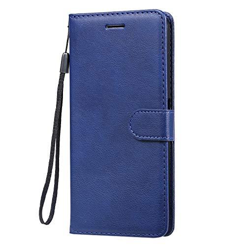 Hülle für Oppo F11Pro Hülle Leder,[Kartenfach & Standfunktion] Flip Case Lederhülle Schutzhülle für Oppo F11 Pro - EYKT051574 Blau