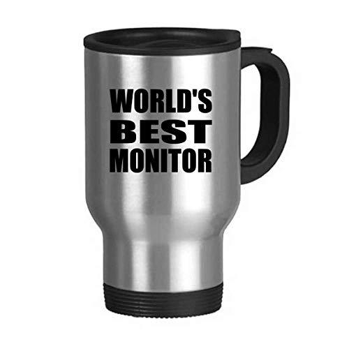 World's Best Monitor Graduation season Travel Mug Flip Lid Stainless Steel Cup Car Tumbler Thermos