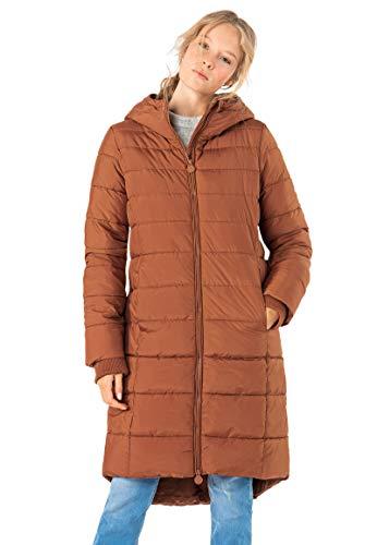 Eight2Nine Damen Stepp-Mantel mit Kapuze warm gefüttert Brown M