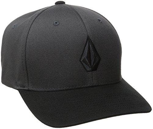 Volcom Men's Full Stone Xfit Hat, Asphalt Black, Small/Medium
