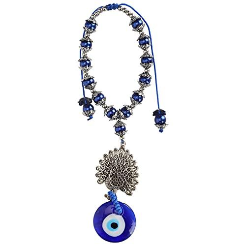Hatirea Colgante de Ojo Azul, Hermosa Pulsera de Ojo de la Suerte Conveniente Que le Brinda amuletos Decorativos de Buena Suerte para diversas Actividades diarias