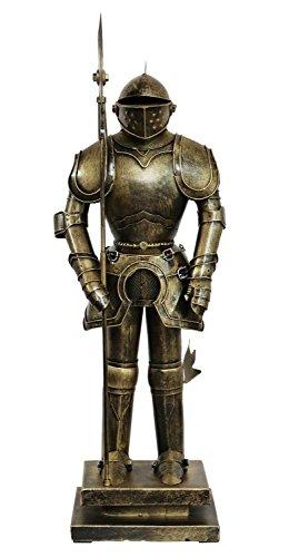 aubaho Sculpture Chevalier Lance métal Style Antique 48cm