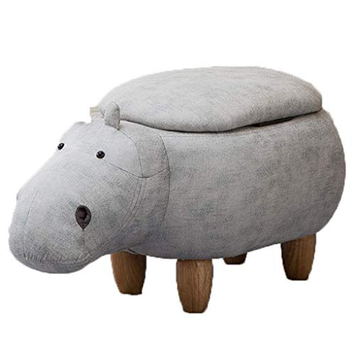 CYQ Boîtes de Rangement Pouf Adultes Repose-Pieds Repose-Pieds Animaux Hippopotame et poufs tabourets Multifonctions Chaise pour Salon Chambre