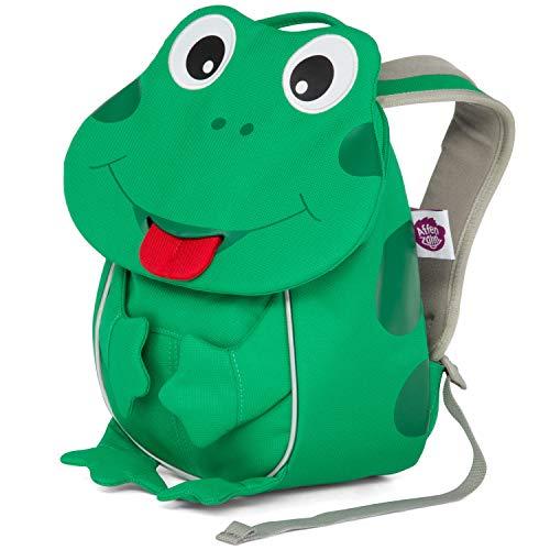 Affenzahn Kleiner Freund - Kindergartenrucksack für 1-3 Jährige Kinder im Kindergarten und Kinderrucksack für die Kita - Frosch - Grün