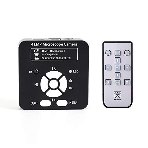 41MP TV HDMI HDMI Alta definición Microscopio USB C-Mount Cámara Industrial para reparación de Soldadura Inspección de Laboratorio 100-240V Enchufe de alimentación