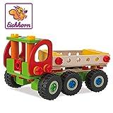 Eichhorn 100039039 - Constructor Kranwagen, 190-tlg., Holz-Konstruktions-Set, 4 verschiedene...