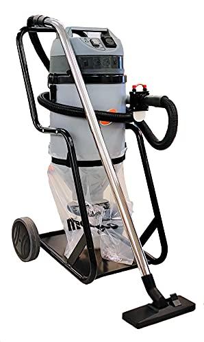 Technisol T28W - Aspirador para equipos electroportátiles, suelo y paredes. Especial polvo fino con despegador, 1000 W, 28 litros