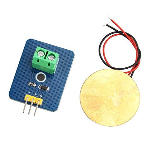 HALJIA 3.3V 5V Ceramic Piezo Vibration Sensor Analog Output Supplies Sensors Analog Piezoelectricity Controller Electronic Components 30mm x 23mm Sensor Module DIY KIT Compatible with Arduino UNO Rev3
