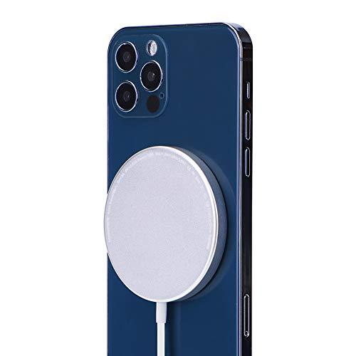 osloon Magnetisches kabelloses Ladegerät, Qi-zertifiziertes Schnellladepad mit Max 15W und USB-A, kompatibel mit Phone 12/SE/11/11 Pro/X/XS Max/8 / S20/S10/S9 Note 20/10