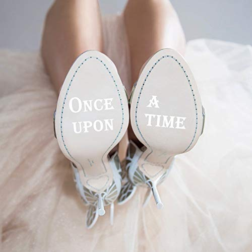 "CLIFFBENNETT Personalisierter Aufkleber ""Once Upon a Time"" Hochzeitsschuh-Aufkleber,..."