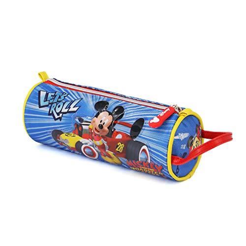 Karactermania Mickey Mouse Racers-Cylinder Pencil Case Federmäppchen, 22 cm, Blau (Blue)